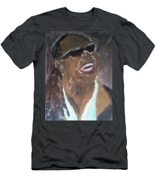 Stevie Wonder 1 Men's T-Shirt (Slim Fit) by Christy Saunders Church