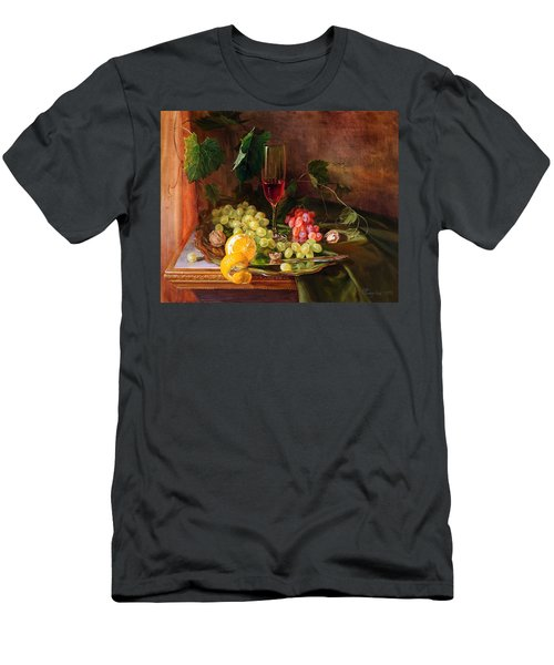 Still Life With Grapes And Grapevine Men's T-Shirt (Athletic Fit)