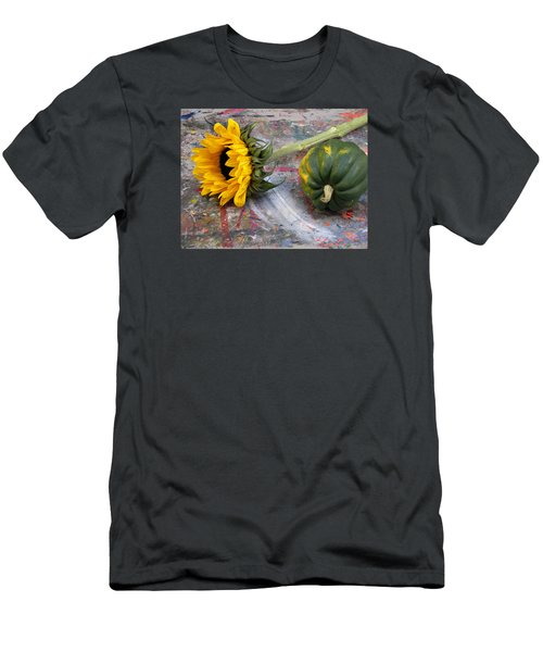 Still Life With Sunflower Men's T-Shirt (Athletic Fit)