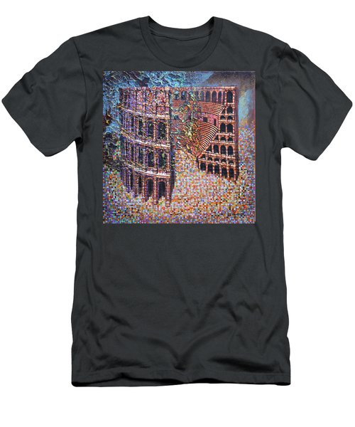 Still Stadium Men's T-Shirt (Slim Fit) by Mark Jones