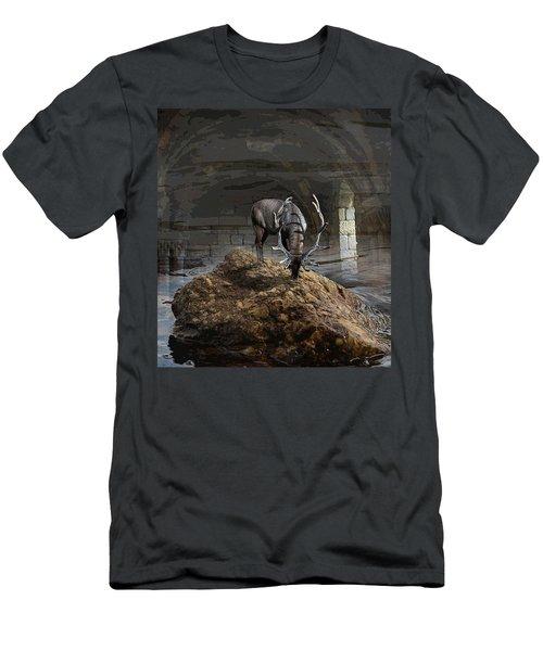 Stillness Men's T-Shirt (Slim Fit) by Yvonne Wright