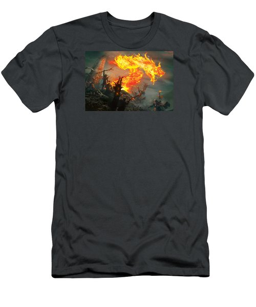 Stoke The Flames Men's T-Shirt (Athletic Fit)