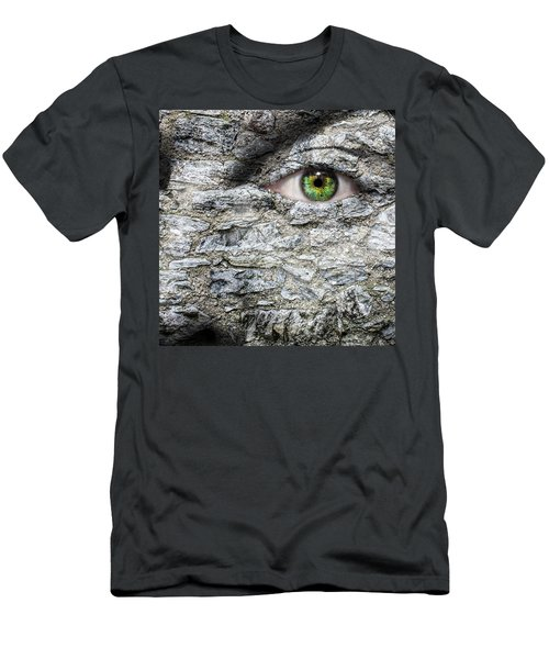 Stone Face Men's T-Shirt (Slim Fit) by Semmick Photo