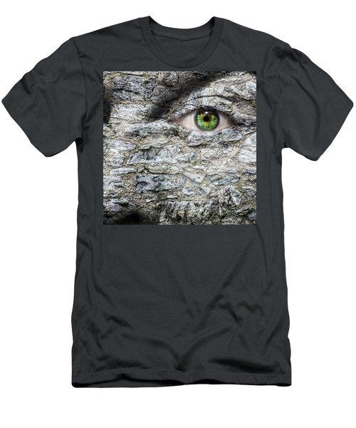 Stone Face Men's T-Shirt (Athletic Fit)