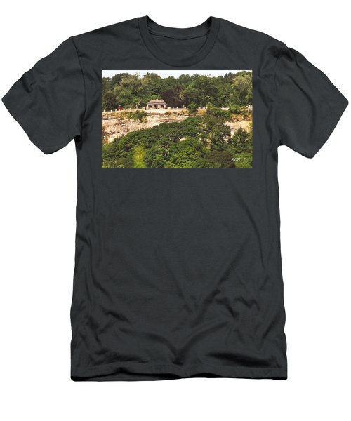 Stone Wall With Gazebo Men's T-Shirt (Athletic Fit)