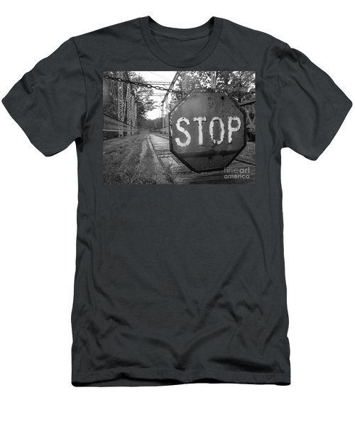 Stop Sign Men's T-Shirt (Slim Fit) by Michael Krek