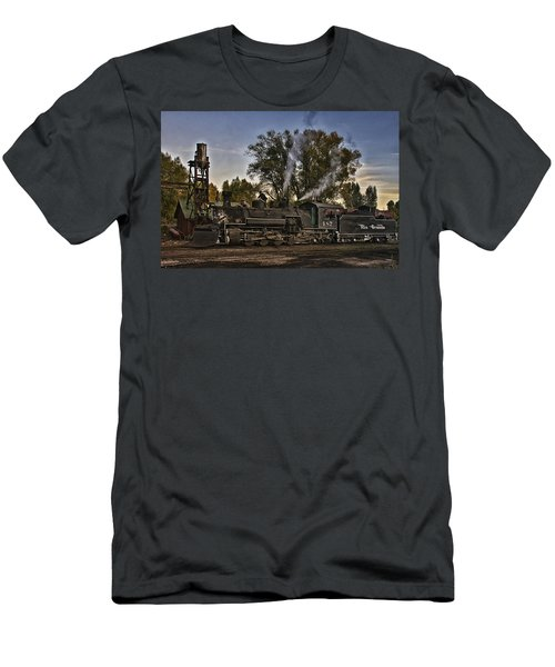 Men's T-Shirt (Slim Fit) featuring the photograph Stopped At Chama by Priscilla Burgers