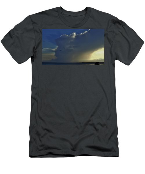 Men's T-Shirt (Slim Fit) featuring the photograph Storm Across Delaware Bay by Ed Sweeney