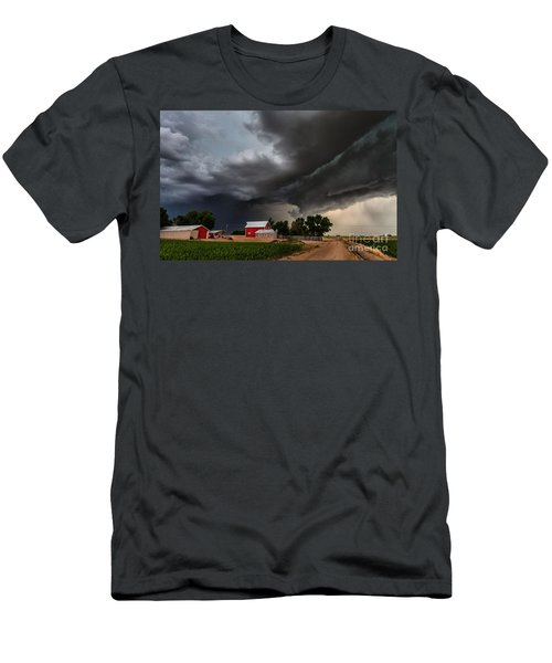 Storm Over The Farm Men's T-Shirt (Slim Fit) by Steven Reed