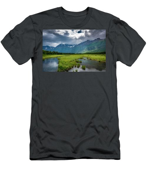 Storm Over The Mountains Men's T-Shirt (Athletic Fit)