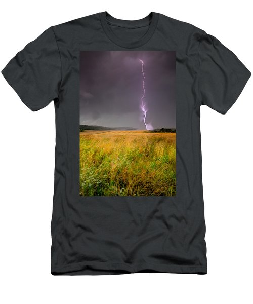Storm Over The Wheat Fields Men's T-Shirt (Athletic Fit)