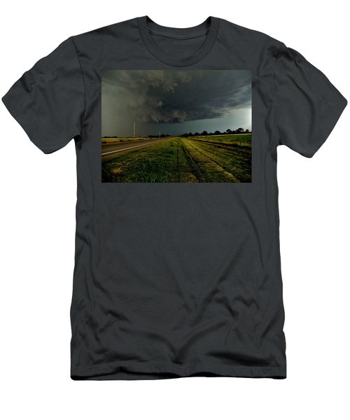 Men's T-Shirt (Slim Fit) featuring the photograph Stormy Road Ahead by Ed Sweeney