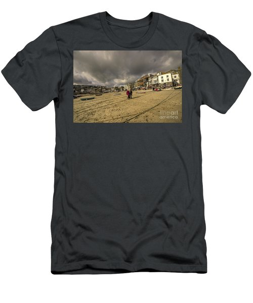 Stormy Sky's At St Ives  Men's T-Shirt (Athletic Fit)