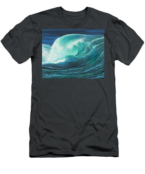 Stormy Wave Men's T-Shirt (Athletic Fit)