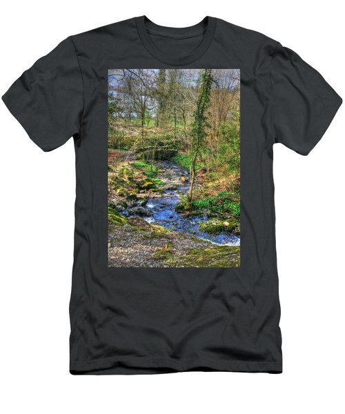 Men's T-Shirt (Slim Fit) featuring the photograph Stream In Wales by Doc Braham