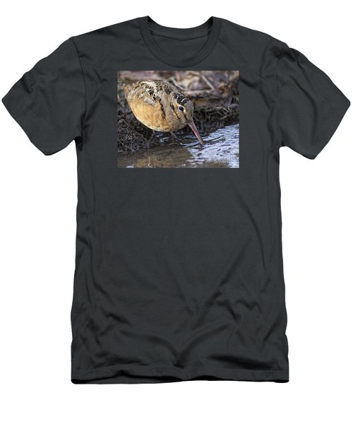 Streamside Woodcock Men's T-Shirt (Slim Fit) by Timothy Flanigan