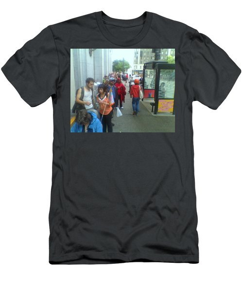 Street Scene Men's T-Shirt (Slim Fit) by David Trotter