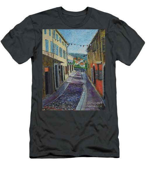 Street View From Provence Men's T-Shirt (Athletic Fit)