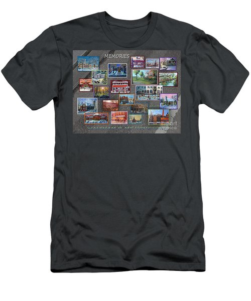 Streets Full Of Memories Men's T-Shirt (Slim Fit) by Rita Brown