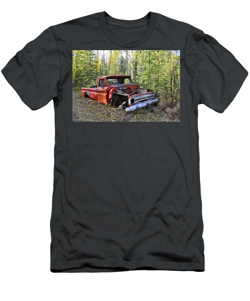 Men's T-Shirt (Slim Fit) featuring the photograph Stripped Chevy by Cathy Mahnke