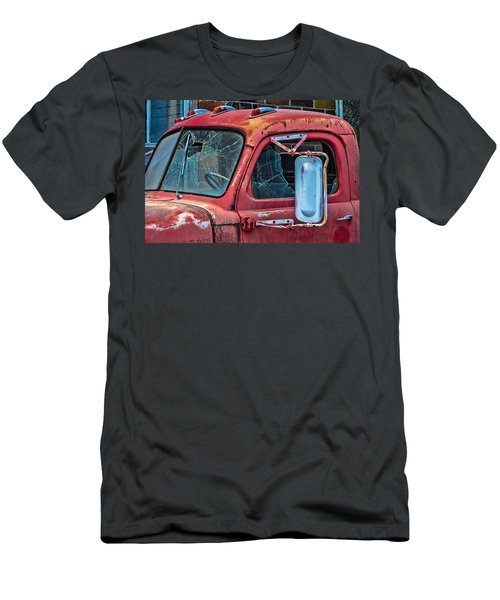 Men's T-Shirt (Slim Fit) featuring the photograph Strong City Red by Steven Bateson