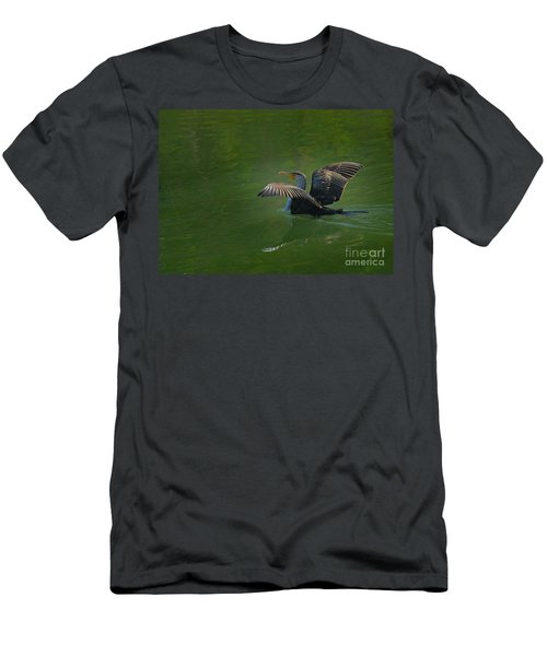 Strutting Cormorant Men's T-Shirt (Athletic Fit)