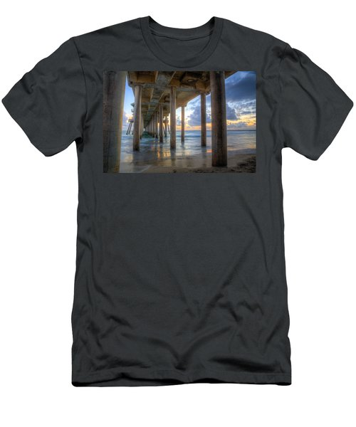 Subtle Pier Sunset Men's T-Shirt (Athletic Fit)
