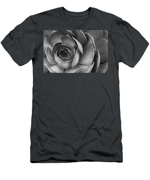 Succulent In Black And White Men's T-Shirt (Athletic Fit)