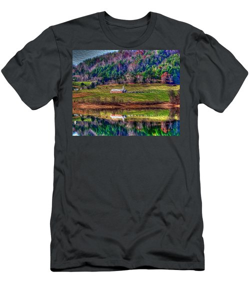 Sugar Grove Reflection Men's T-Shirt (Slim Fit) by Tom Culver