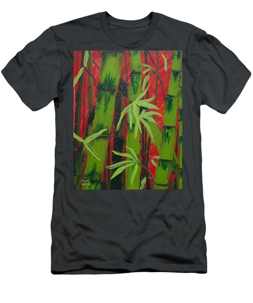 Sultry Bamboo Forest Acrylic Painting Men's T-Shirt (Athletic Fit)