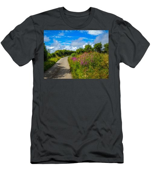 Summer Flowers On Irish Country Road Men's T-Shirt (Athletic Fit)