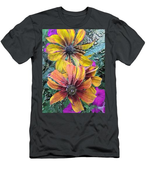 Summer Flowers One Men's T-Shirt (Athletic Fit)