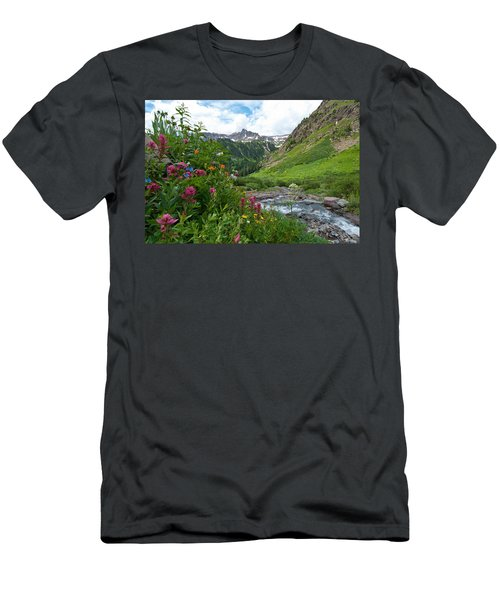 Men's T-Shirt (Athletic Fit) featuring the photograph Summer In The San Juans by Cascade Colors