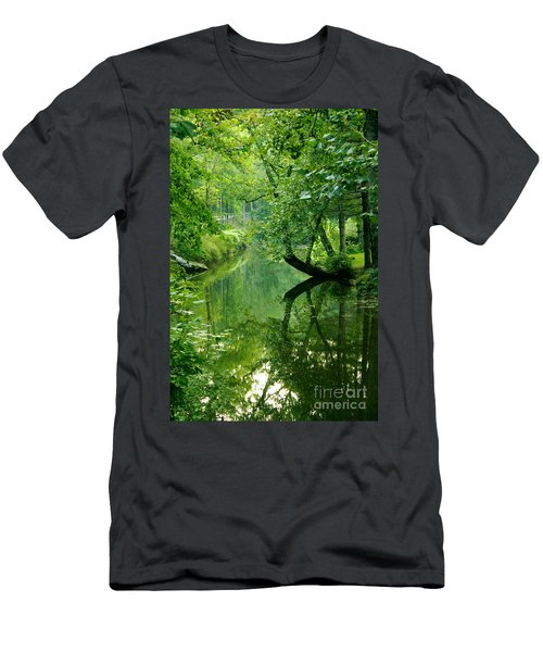 Summer Stream Men's T-Shirt (Athletic Fit)
