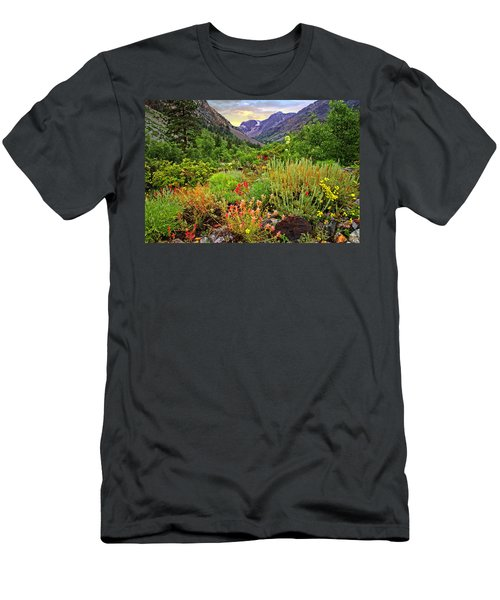Summer Wildflowers In Lundy Canyon Men's T-Shirt (Athletic Fit)