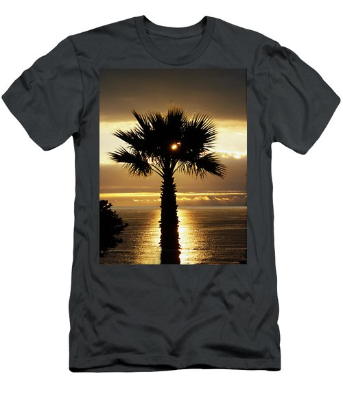 Sun And Palm And Sea Men's T-Shirt (Slim Fit) by Joe Schofield