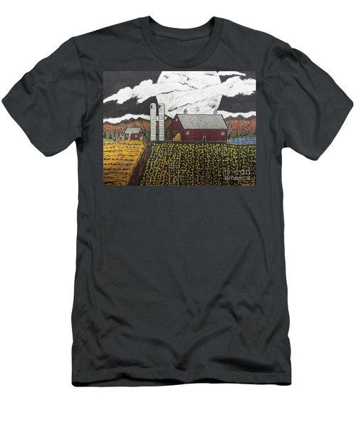 Sun Flower Farm Men's T-Shirt (Athletic Fit)
