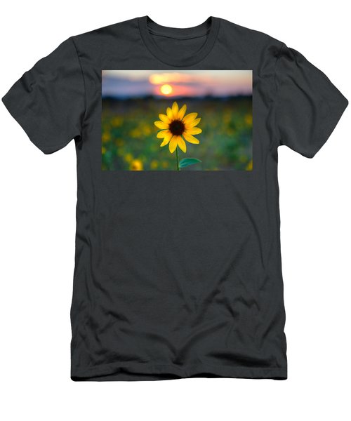 Sun Flower Iv Men's T-Shirt (Athletic Fit)