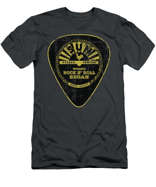 Sun - Guitar Pick Men's T-Shirt (Athletic Fit)