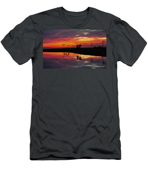 Sun Set At Cowen Creek Men's T-Shirt (Athletic Fit)