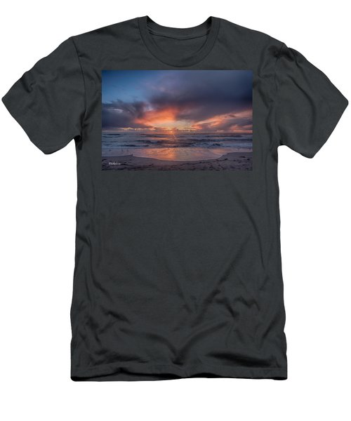 Sundown At Moss Landing Men's T-Shirt (Athletic Fit)