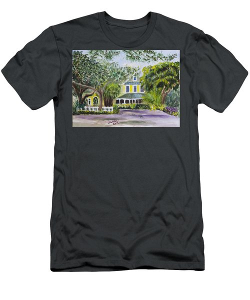 Sundy House In Delray Beach Men's T-Shirt (Slim Fit) by Donna Walsh