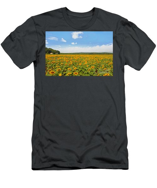 Sunflower Field New Jersey Men's T-Shirt (Athletic Fit)
