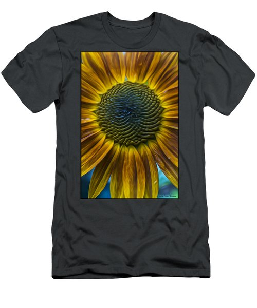 Sunflower In Rain Men's T-Shirt (Athletic Fit)
