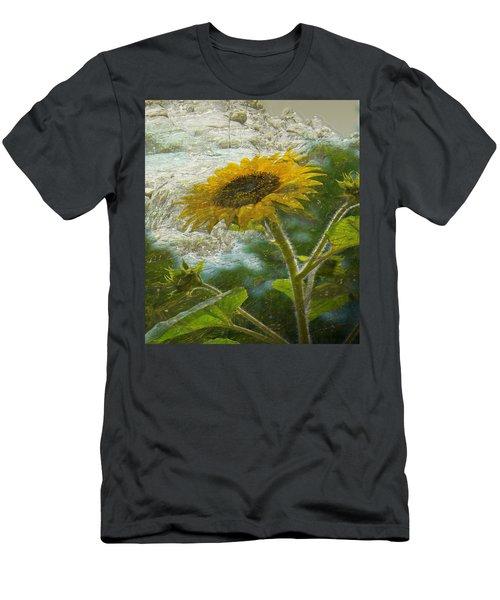 Sunflower Mountain Men's T-Shirt (Athletic Fit)