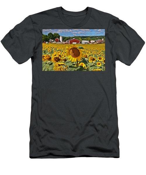Sunflower Nirvana 21 Men's T-Shirt (Athletic Fit)