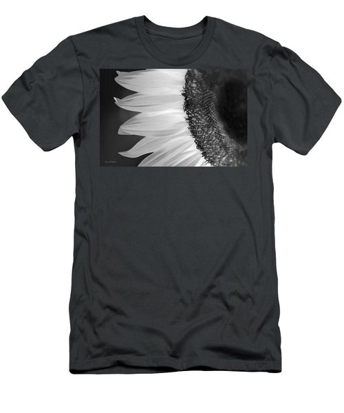 Sunflowers Beauty Black And White Men's T-Shirt (Slim Fit) by Sandi OReilly