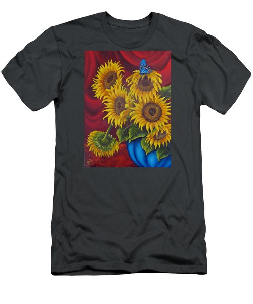 Sunflowers Men's T-Shirt (Slim Fit) by Katia Aho