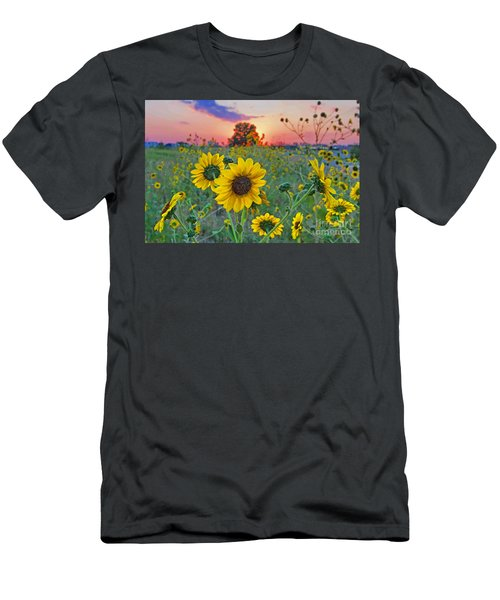 Sunflowers Sunset Men's T-Shirt (Athletic Fit)