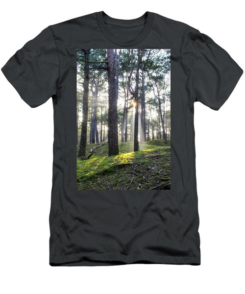 Sunlit Trees Men's T-Shirt (Slim Fit) by Spikey Mouse Photography